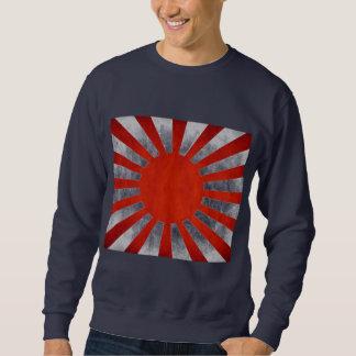 日本のでグランジな旗 スウェットシャツ