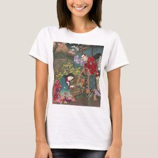 日本ので美しい芸者の武士の芸術 Tシャツ