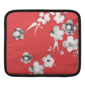 日本ので赤い絹のデザインのipadカバー iPadスリーブ