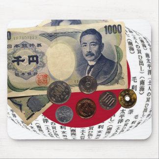 日本のなお金のデザインのマウスパッド マウスパッド