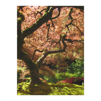 日本のなかえでのエイサーPalmatumポートランドの庭 キャンバスプリント