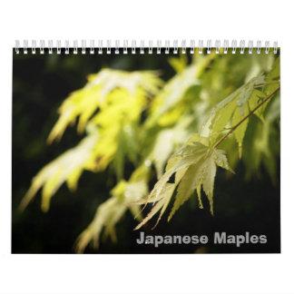 日本のなかえでのカレンダー カレンダー