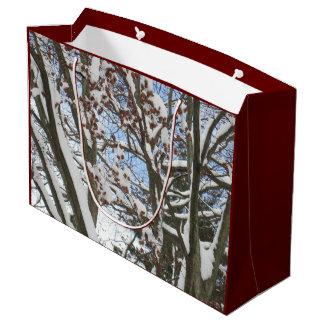 日本のなかえでの雪 --- ラージペーパーバッグ