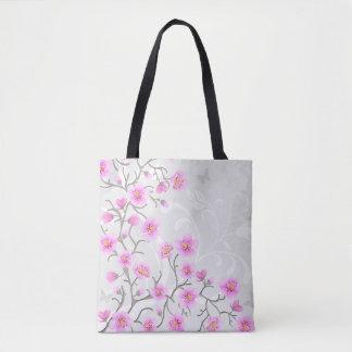 日本のなさくらんぼによっては全にプリントのトートバックが開花します トートバッグ
