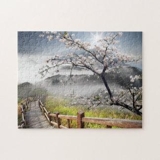 日本のなさくらんぼの景色のパズル ジグソーパズル