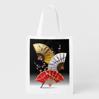 日本のなさくらんぼは再使用可能な買い物袋に送風します エコバッグ