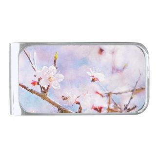 日本のなさくらんぼ-開花の桜 シルバー マネークリップ
