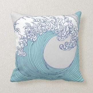 日本のなアジア波の波の芸術のプリントの海のビーチ クッション