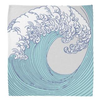 日本のなアジア波の波の芸術のプリントの海のビーチ バンダナ
