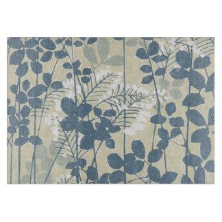 日本のなアジア芸術の花の青い花のプリント カッティングボード