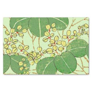 日本のなアジア葉の芸術のプリントの花柄 薄葉紙