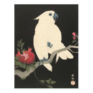 日本のなオウムの郵便はがき ポストカード