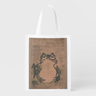 日本のなカエルの芸術 エコバッグ