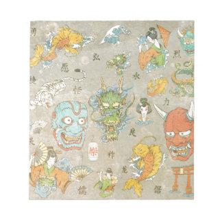 日本のなコラージュ ノートパッド
