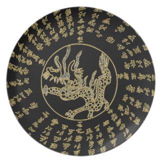 日本のなドラゴンのプレート プレート