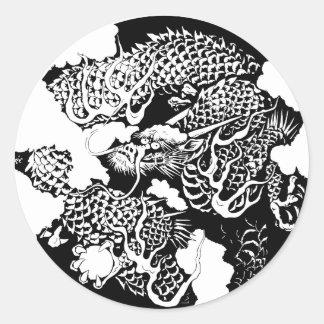 日本のなドラゴン ラウンドシール