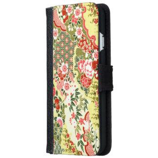日本のなパターン iPhone 6/6S ウォレットケース