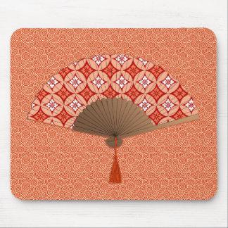 日本のなファン、Shippoのモチーフ、マンダリンオレンジ マウスパッド