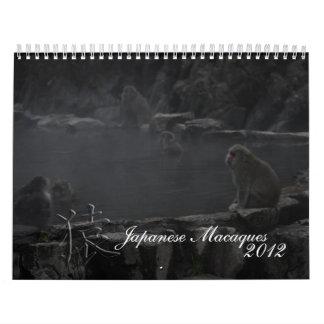 日本のなマカク属のカレンダー カレンダー