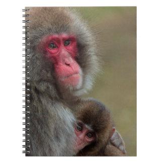 日本のなマカク属猿のノート ノートブック