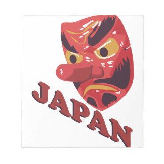 日本のなマスク ノートパッド