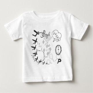 日本のなマンガのこっけいな効果 ベビーTシャツ