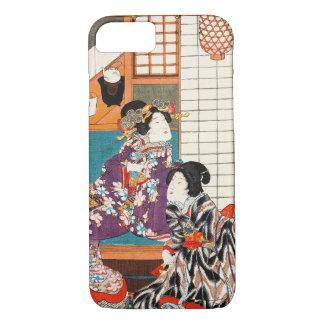 日本のなヴィンテージの美しいの芸者の女性女性Maiko iPhone 7ケース