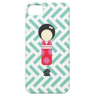 """日本のな人形のiPhoneの場合- """"愛"""" iPhone 5 Case"""