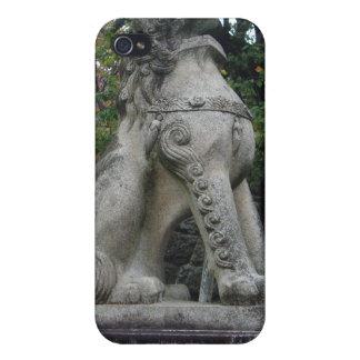日本のな保護者のライオンの寺院の彫像のiphone 4ケース iPhone 4 cover