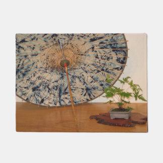 日本のな傘および盆栽の木のWashington D.C. ドアマット
