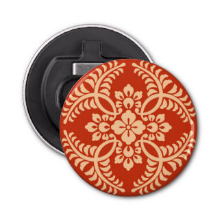 日本のな円形浮彫りパターン、マンダリンオレンジ 栓抜き