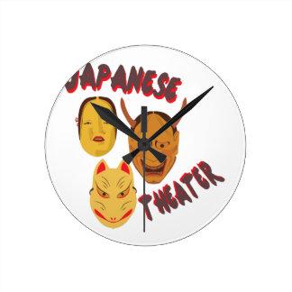 日本のな劇場 ラウンド壁時計