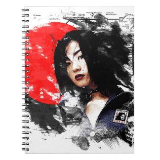日本のな女の子 ノートブック