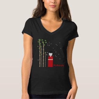 日本のな女の子- KokeshiのTシャツ Tシャツ