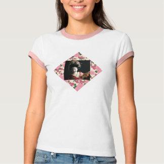 日本のな女性-ピンクの花を持つ芸者 Tシャツ