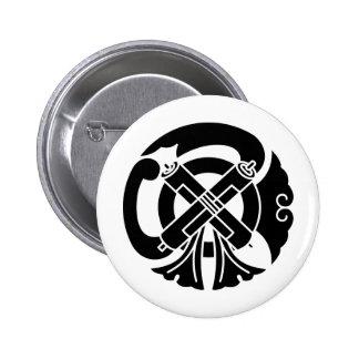 日本のな家紋KAMONの記号 5.7CM 丸型バッジ