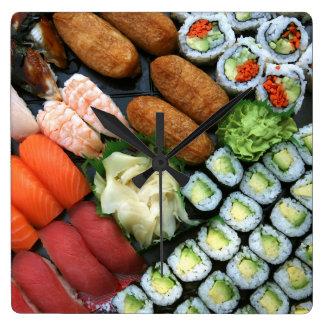 日本のな寿司の好みの類別 スクエア壁時計