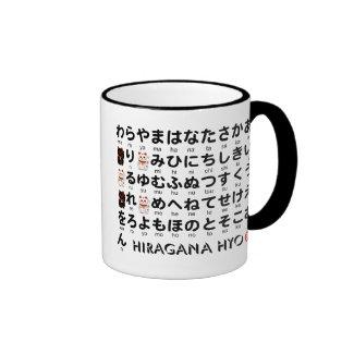 日本のな平仮名及び片仮名のテーブル(アルファベット) コーヒーマグカップ