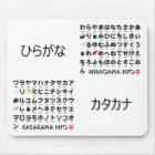 日本のな平仮名及び片仮名のテーブル(寿司) マウスパッド