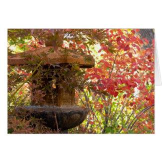 日本のな庭の紅葉 カード