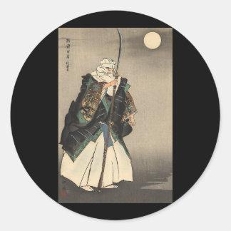 日本のな戦士の絵画。 1922年頃 ラウンドシール