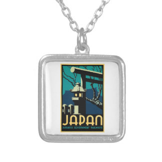 日本のな政府の鉄道のヴィンテージの世界旅行 シルバープレートネックレス