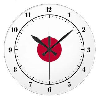 日本のな旗の時計 ラージ壁時計