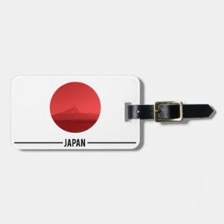 日本のな旗、富士山、日本 ラゲッジタグ
