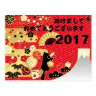 日本のな明けましておめでとうの菊の花柄 ポストカード