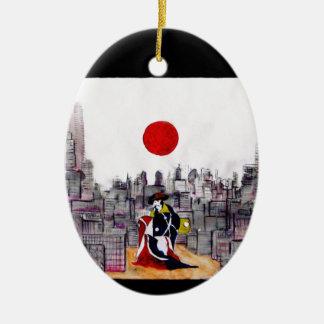 日本のな景色の日本のな人 セラミックオーナメント