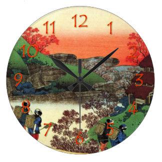 日本のな村民 ラージ壁時計