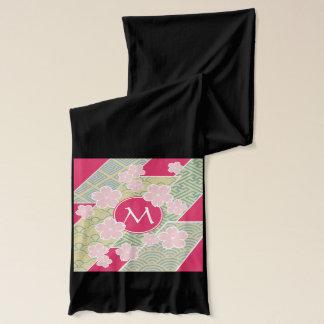 日本のな桜の桜幾何学的なパターン スカーフ