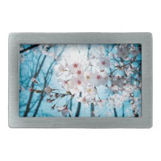 日本のな桜の禅 長方形ベルトバックル