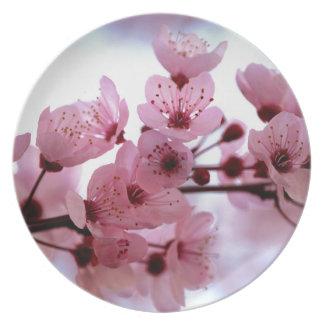 日本のな桜の花 プレート